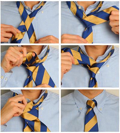 часть длины галстука,