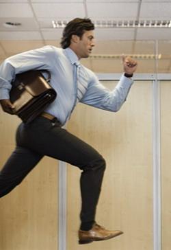 Image result for бежит на деловую встречу
